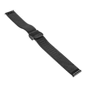 SOC Milanaise Mesh strap, H 2,5 mm, W 22 mm, straight, 2906, black – Bild 3