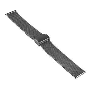 SOC Milanaise Uhrenband / Meshband, H 1,5 mm, B 20 x 20 mm, 2904, Stahl – Bild 1