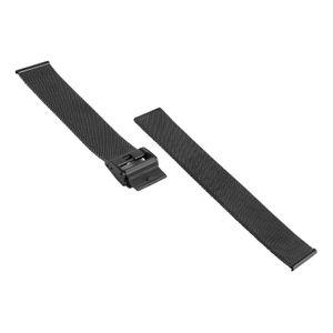 SOC Milanaise Uhrenband / Meshband, H 1,5 mm, B 20 x 20 mm, 2904, Schwarz – Bild 3
