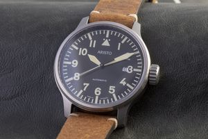 ARISTO 7H102, vintage, pilot Aviator watch, Automatic – Bild 2