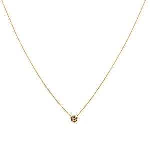 Collier anchor chain with solitaire, 45 cm, Diamand brillant cut, 18 ct Gold – Bild 1