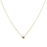 Collier anchor chain with solitaire, 45 cm, Diamand brillant cut, 18 ct Gold 001