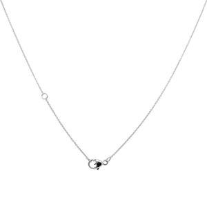 Collier anchor chain with solitaire, 45 cm, Diamand brillant cut, 18 ct white gold – Bild 3