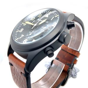 Messerschmitt-Chrono ME5030-44VS, PVD black, aviator watch, Quartz – Bild 2