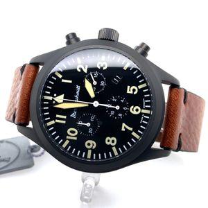 Messerschmitt-Chrono ME5030-44VS, PVD black, aviator watch, Quartz – Bild 3