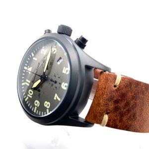Messerschmitt-Chrono ME5030-44VA, PVD black, aviator watch, Quartz – Bild 4