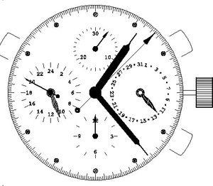 Watch movement ETA 7750, Automatic, Chronograph, Swiss Made, engraved, 2nd time zone – Bild 6