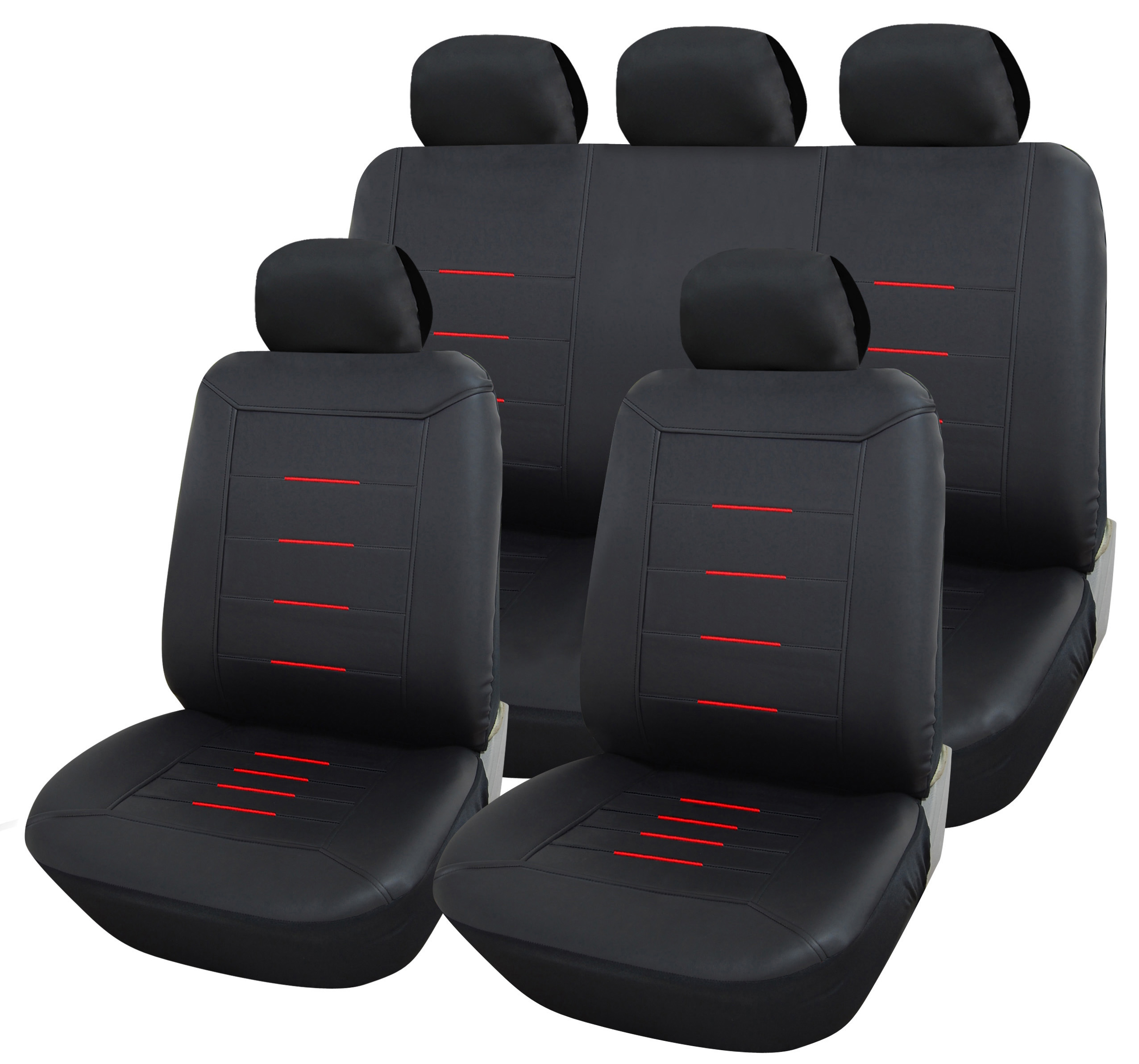 autositzbez ge kunstleder schwarz universal auto. Black Bedroom Furniture Sets. Home Design Ideas