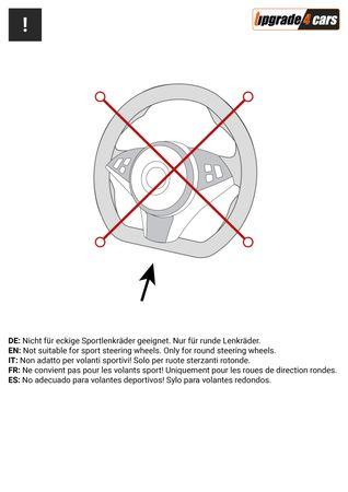 Lenkradbezug Schwarz Orange | Leder Imitat 37-39 cm – Bild 4