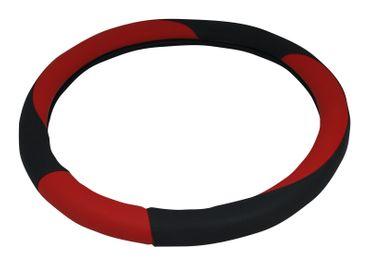Schwarz-roter Lenkradbezug Aurelia in schickem Design