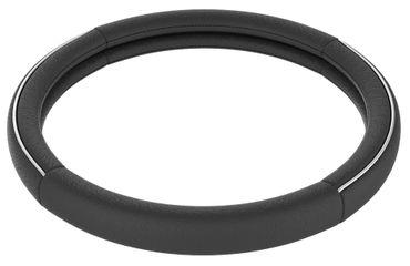 Lenkradbezug Chromus in schwarz mit Chromstreifen – Bild 6