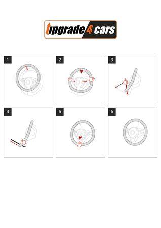 Rosa Lenkradbezug Nano in schickem Design – Bild 3