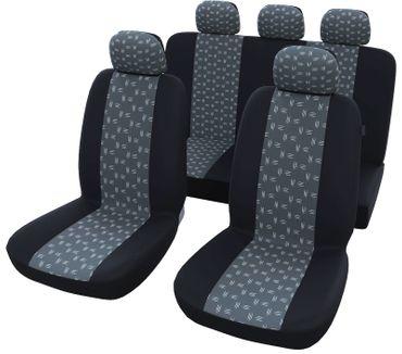 Autositzbezüge Universal Schwarz Grau  – Bild 1