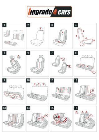 Sitzbezug-Set Racer in schwarz-grau – Bild 4