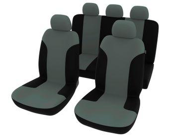 Sitzbezug-Set Kert in schwarz-grau