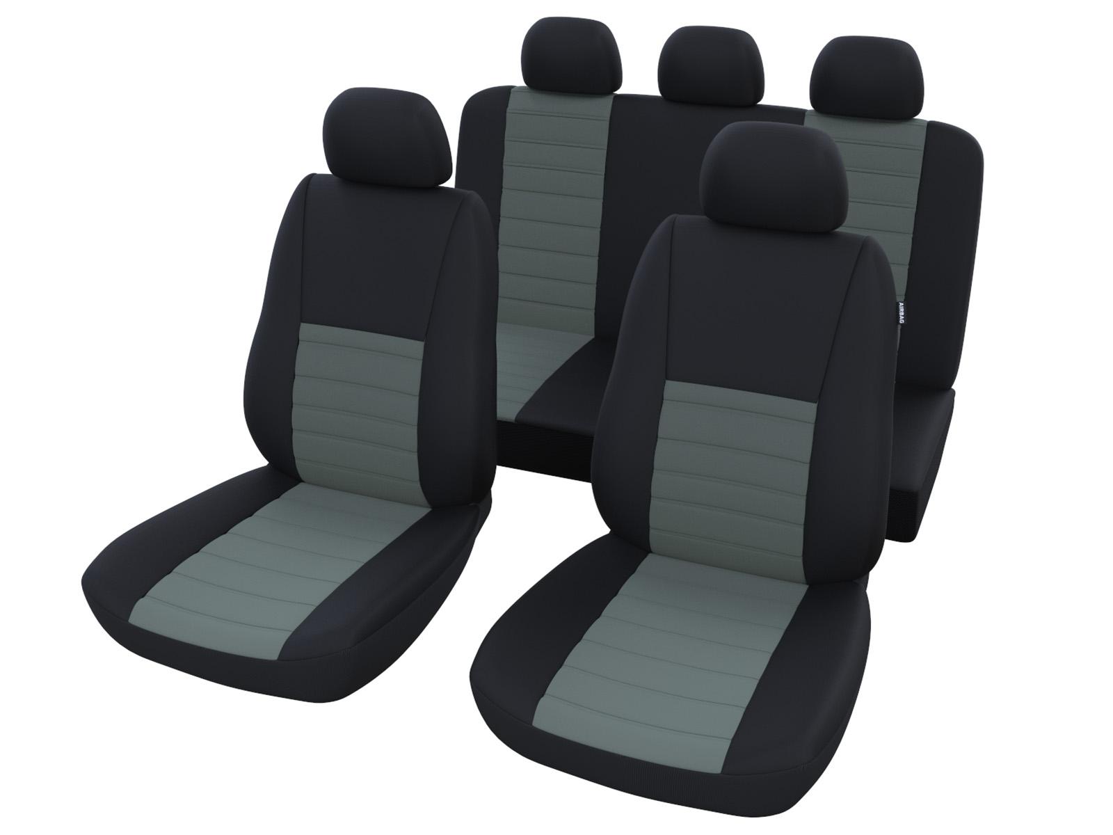auto sitzbez ge schwarz grau autositz schonbezug. Black Bedroom Furniture Sets. Home Design Ideas