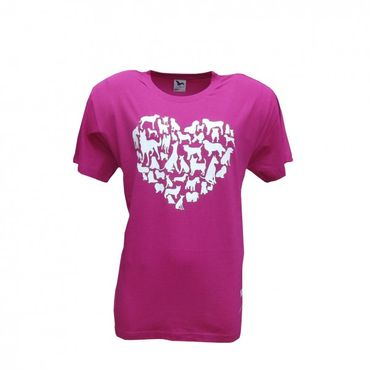 working-dog Shirt Heart pink – Bild 1