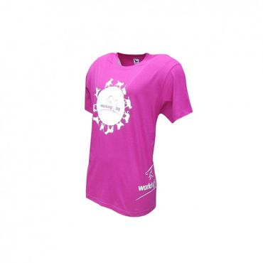 working-dog Shirt Globus pink – Bild 1