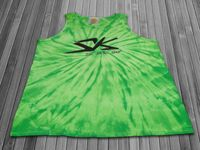 S-K TyeDye Batik Tank Top Shirt lime in XL