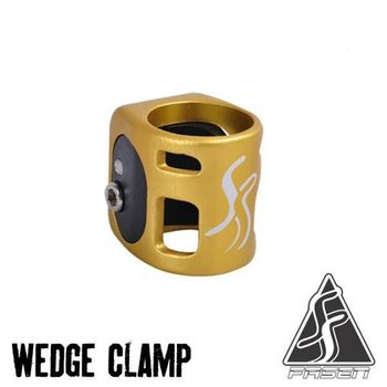 Fasten clamp gold/black