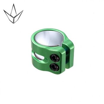Blunt 2 Bolts Clamp Twin Slit Green