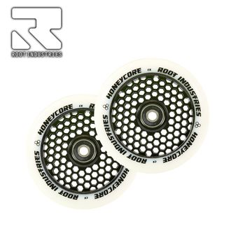 Root Industries Honeycore wheels 110mm White/Black