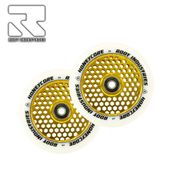 Root Industries Honeycore wheels 110mm White/Gold