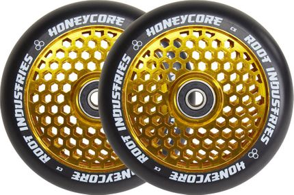 Root Industries Honeycore wheels 110mm Black/Gold (Paar)
