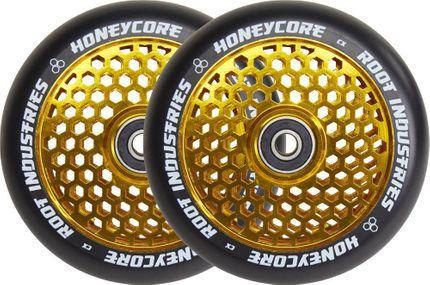 Root Industries Honeycore wheels 110mm Black/Gold (Paar)