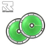 Root Industries Air 110 mm Wheel Black/green (Pair)