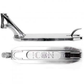 Drone Scooter Icon Deck 19,5 x4,8  Polished Chrome
