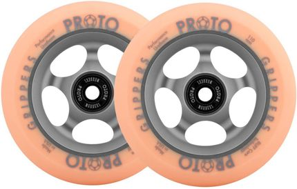 Proto Stunt Scooter Wheel Gripper Faded 110mm Grau/Orange Paar