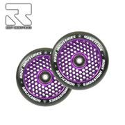 Root Industries Honeycore wheels 120mm Black/Purple (paar)