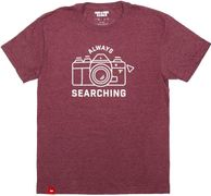 Tilt Always Searching T-Shirt S Maroon
