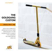 "Scooter Kickboard Custom Build ""Goldgang"""