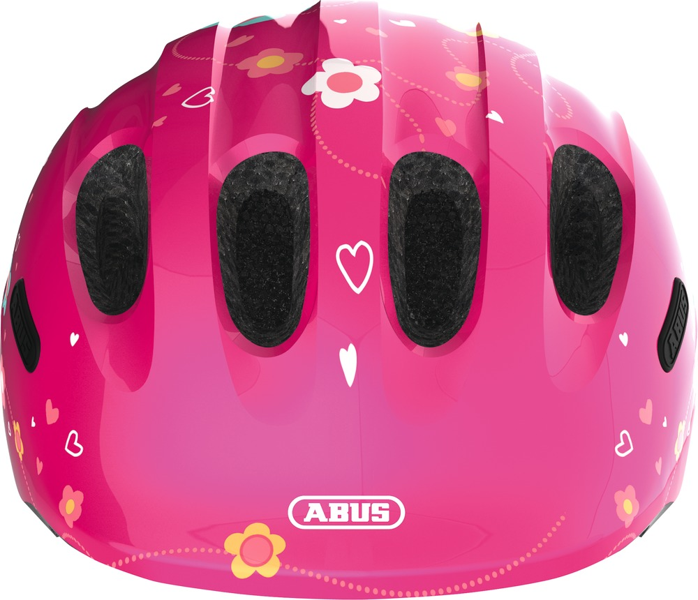 Kinder-Fahrradhelm Abus Smiley 2.0 pink butterfly M 50-55 cm Kopfumfang  – Bild 2