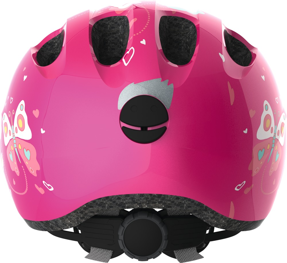 Kinder-Fahrradhelm Abus Smiley 2.0 pink butterfly M 50-55 cm Kopfumfang  – Bild 3
