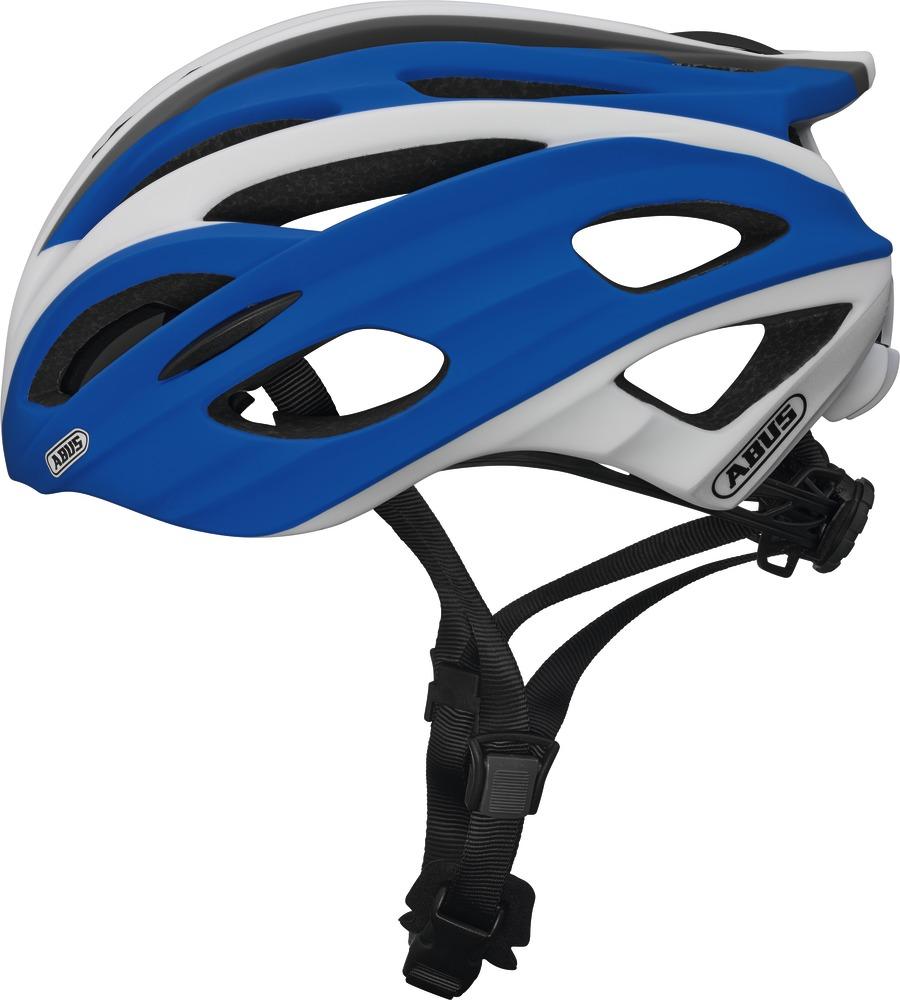 Fahrradhelm Abus In-Vizz race blue L 60-63 cm mit Visier