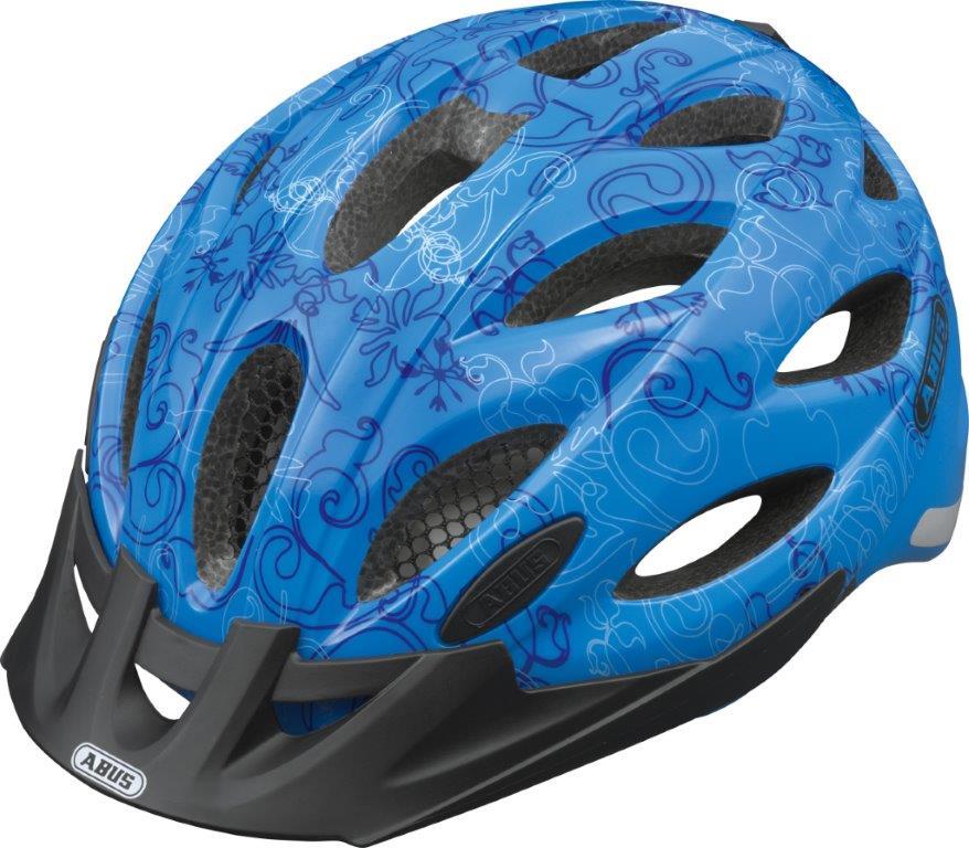 Fahrradhelm Abus LANE-U Zoom garden blue M 52-57 cm