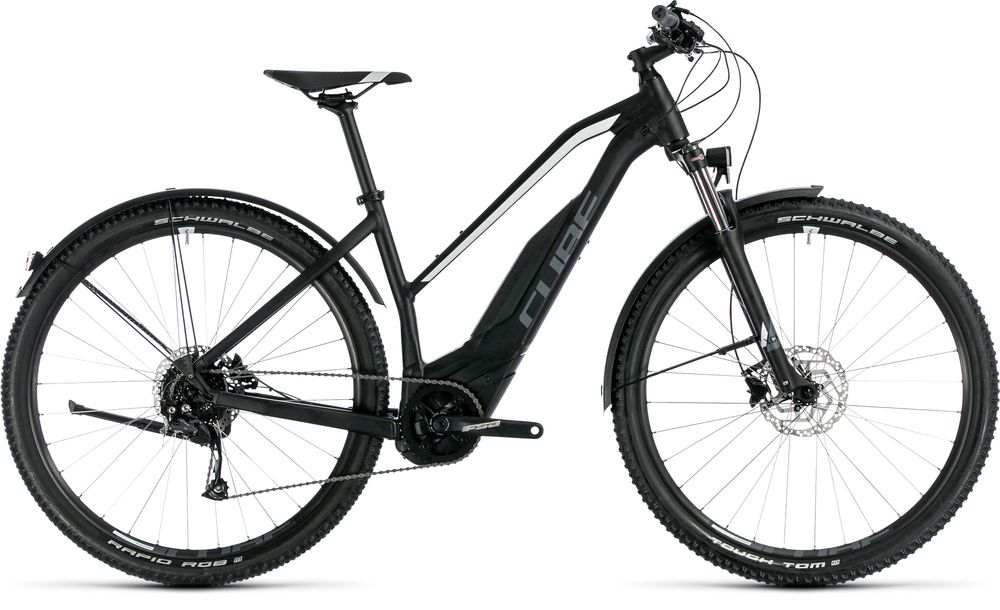 "E-Bike Cube Acid Hybrid ONE Allroad 500 Trapez 29"" 500Wh Bosch Active Plus 9G Freilauf black´n´white – Bild 1"