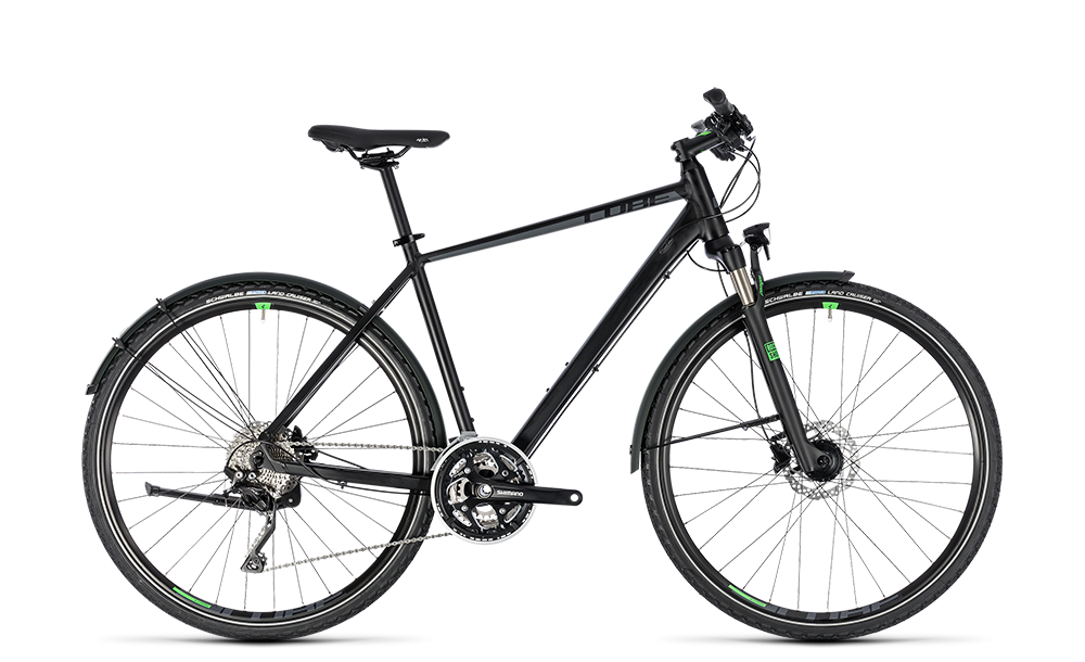 "Crossrad Cube Cross Allroad Herren 28"" 30G Freilauf black´n´green"