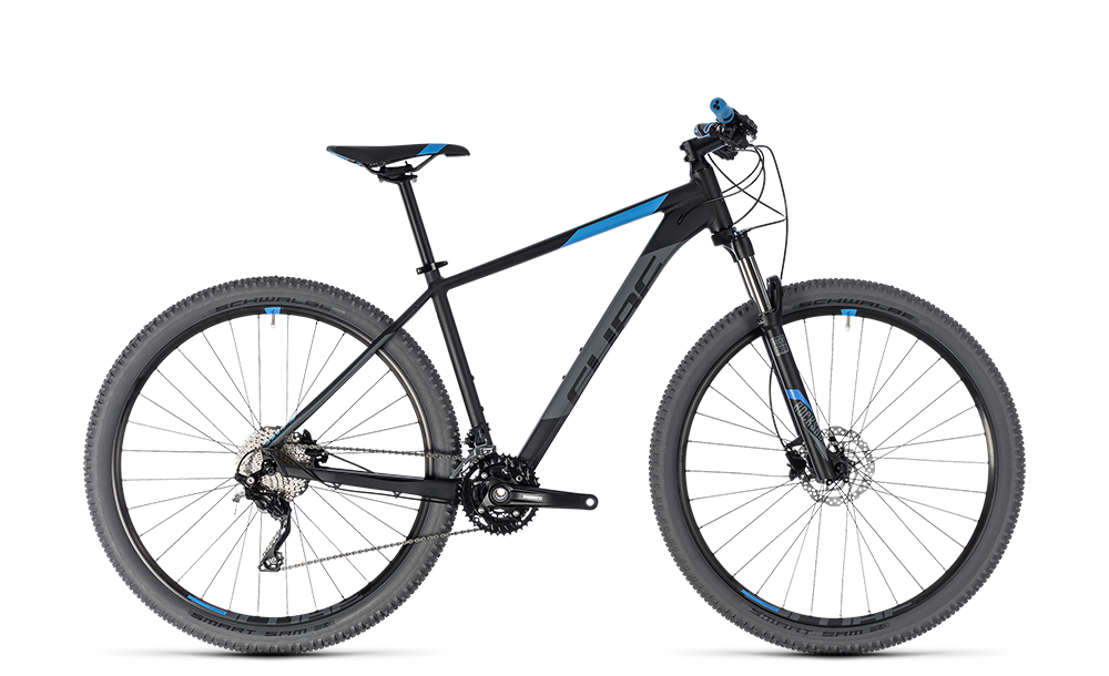 "Mountainbike Cube Attention 29"" 30G Shimano XT black´n´blue"