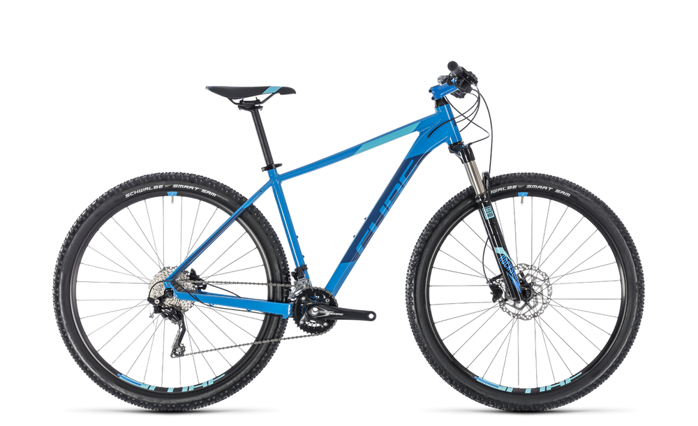 "Mountainbike Cube Attention SL 29"" 20G Shimano XT SL aqua´n´blue"