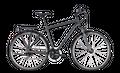 "Trekkingrad Cube Touring Herren 28"" 24G Freilauf iridium´n´red"