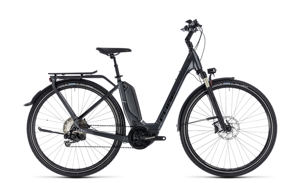 "E-Bike Cube Touring Hybrid SL 500 tief 28"" 500Wh Bosch Active Plus 11G Di2 Freilauf iridium´n´red"