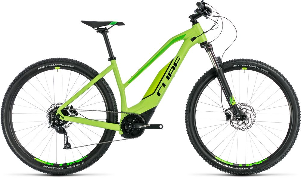 "E-Bike Cube Acid Hybrid ONE 500 Trapez 29"" 500Wh Bosch Active Plus 9G Freilauf green´n´black"