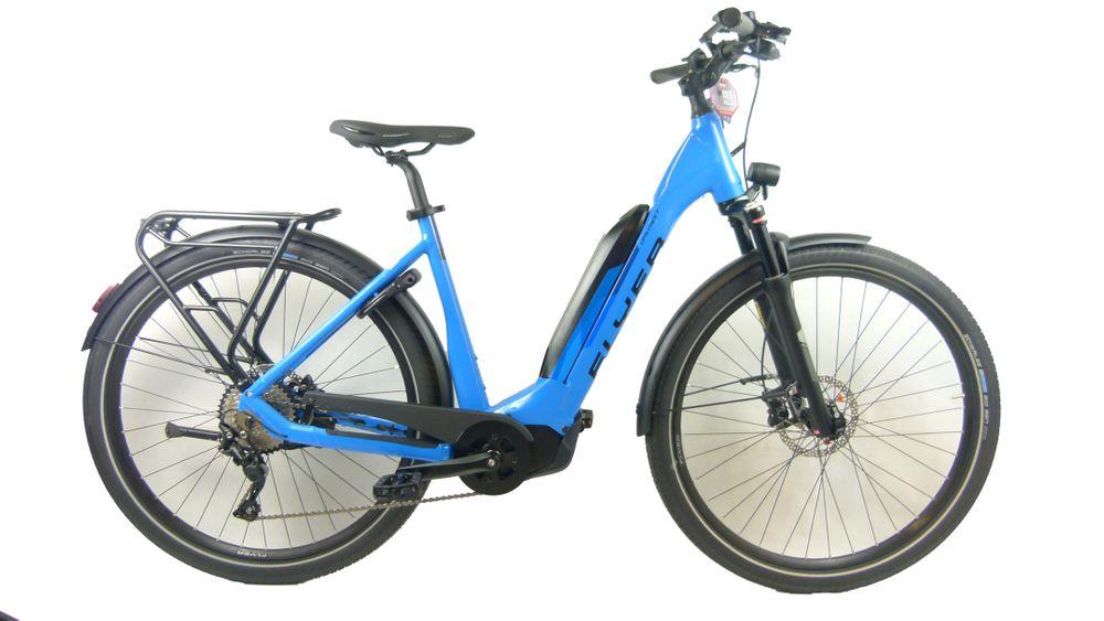 E-Bike Flyer Upstreet5 7.10 10G Deore 17,5 Ah Tief 50 cm Freilauf blau