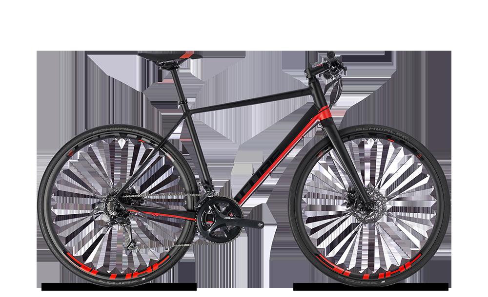 "Fitnessbike Cube SL Road Pro Herren 28"" 18G Freilauf black´n´red"