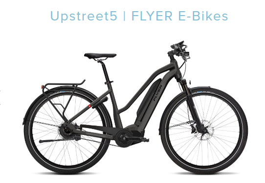 E-Bike Flyer Upstreet5 7.03 Trapez L 8-G Nexus Riemen Panasonic X0 Motor 2019 – Bild 1