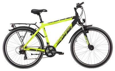 "Mountainbike Yazoo Sport 2.6 21G 26"" Herrenfahrrad neon gelb matt-schwarz matt"